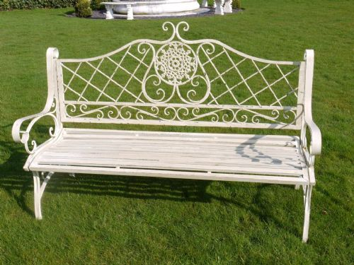 Ashley Antique Long White Bench